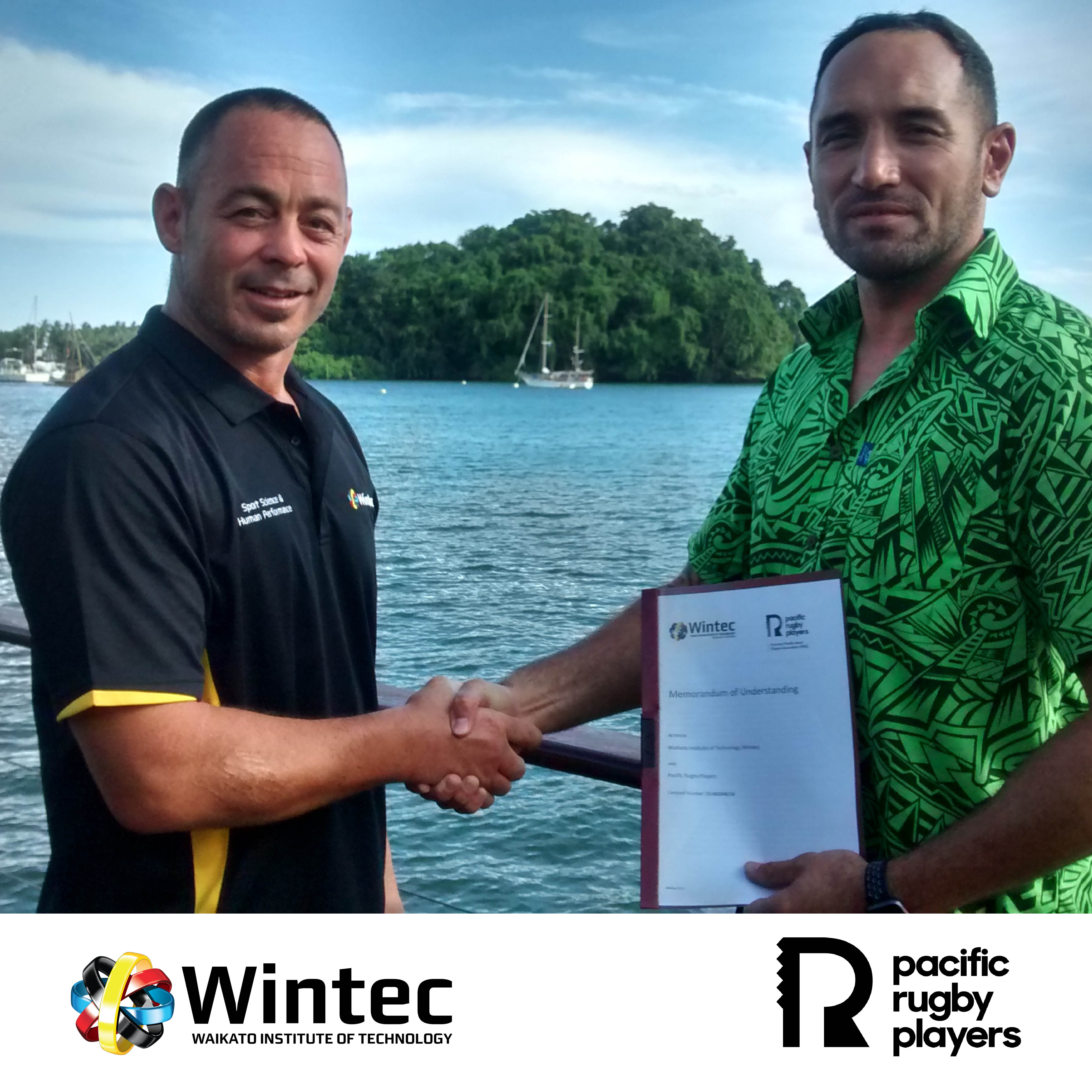 New partnership launched between Pacific Rugby Players and Waikato Institute of Technology